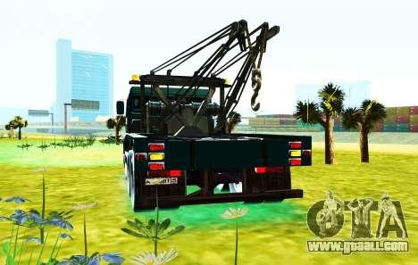KamAZ 6520 V8 TURBO Tow truck for GTA San Andreas back view
