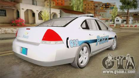 Chevrolet Impala 2011 Police for GTA San Andreas left view