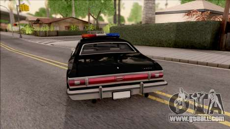 Ford Gran Torino Police LVPD 1975 v3 for GTA San Andreas back left view