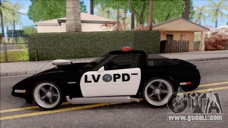 Chevrolet Corvette C4 Police LVPD 1996 v2 for GTA San Andreas left view