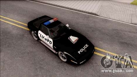 Chevrolet Corvette C4 Police LVPD 1996 v2 for GTA San Andreas right view