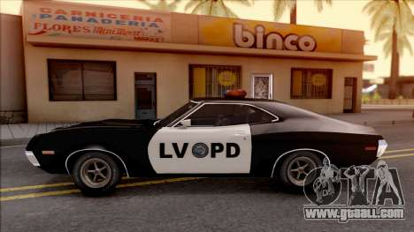 Ford Gran Torino Police LVPD 1972 v3 for GTA San Andreas left view