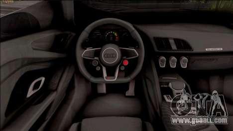 Audi R8 V10 Vorsteiner 2017 for GTA San Andreas inner view