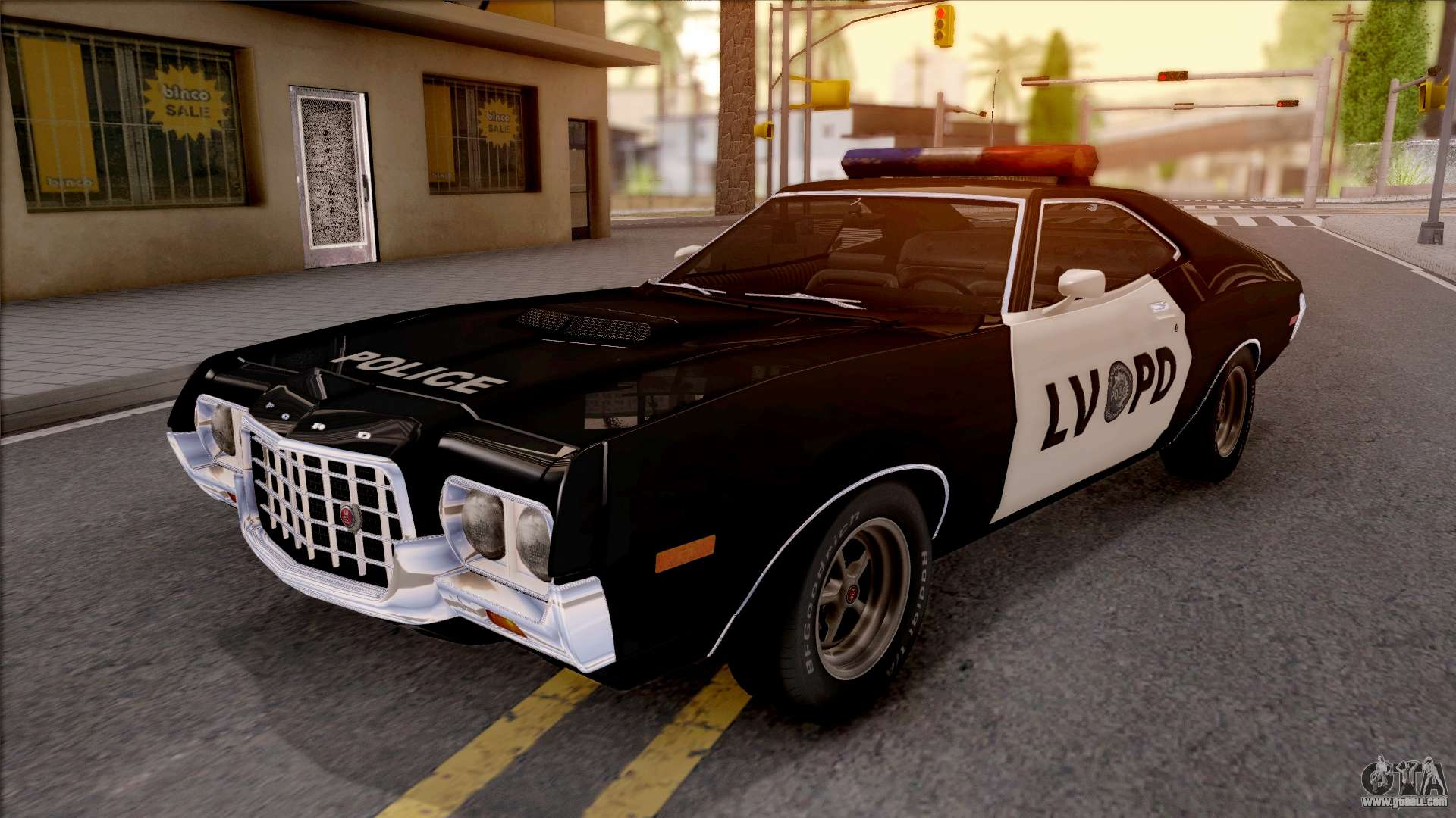 ford gran torino police lvpd 1972 v3 for gta san andreas. Black Bedroom Furniture Sets. Home Design Ideas
