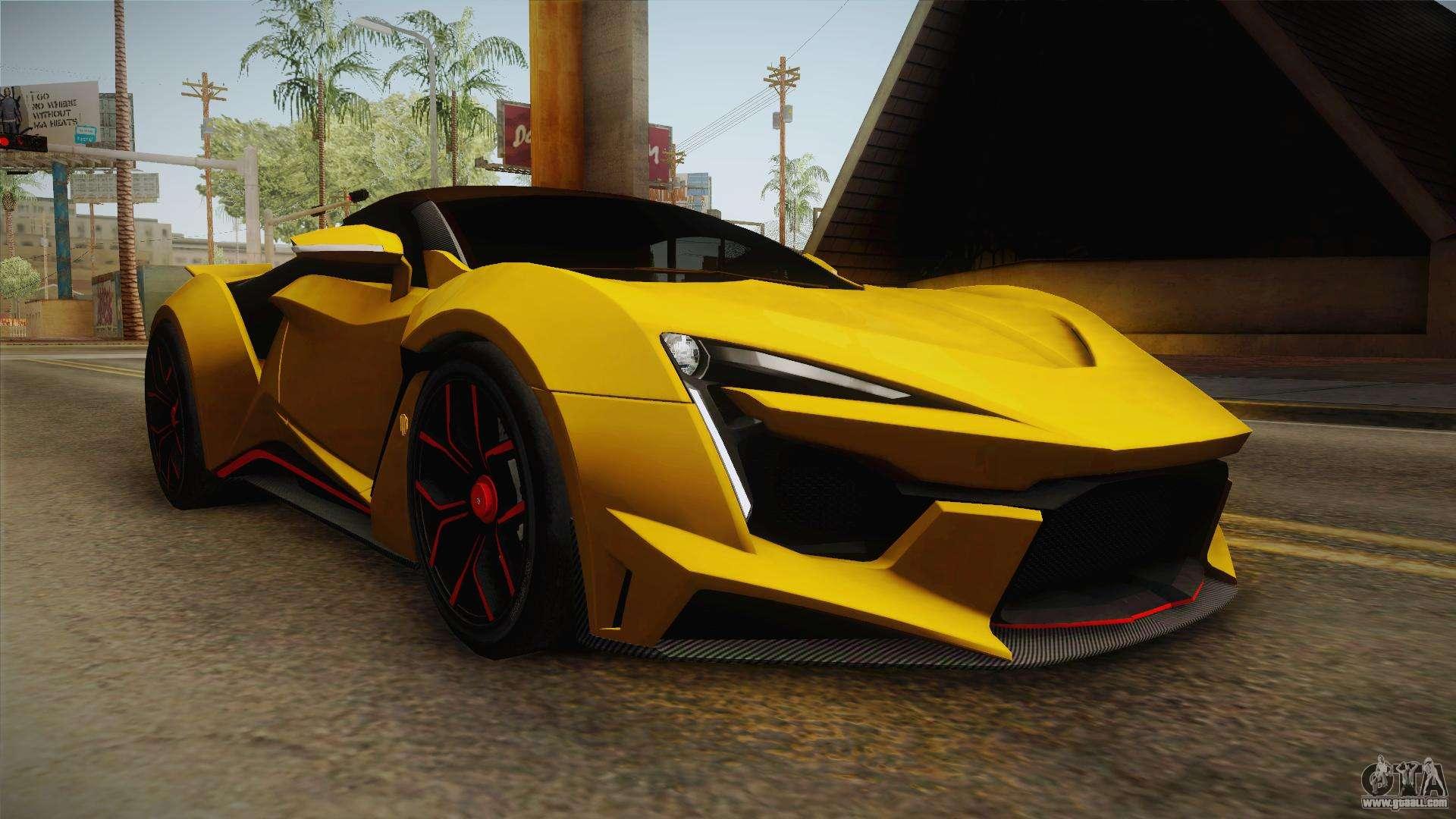 W Motors Fenyr >> Asphalt 8 - Fenyr SuperSport W Motors for GTA San Andreas