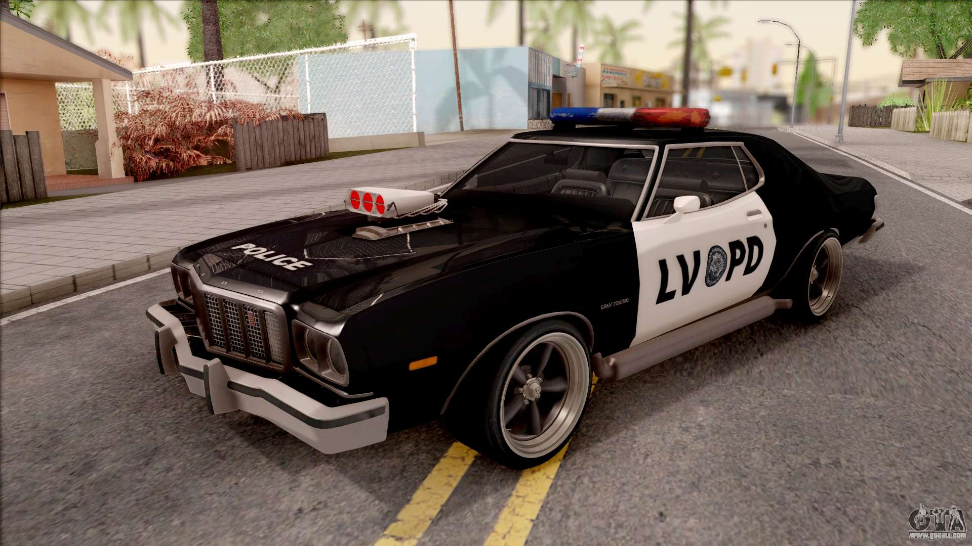 ford gran torino police lvpd 1975 v3 for gta san andreas. Black Bedroom Furniture Sets. Home Design Ideas