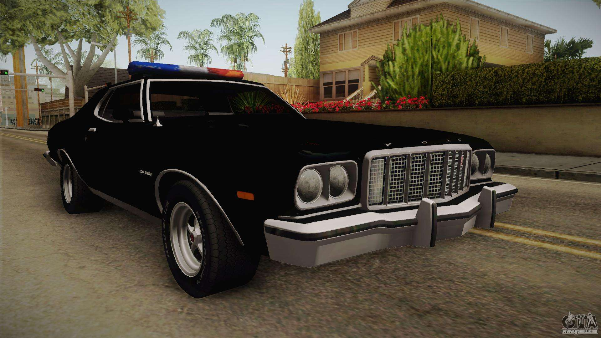 ford gran torino police lvpd 1975 for gta san andreas. Black Bedroom Furniture Sets. Home Design Ideas