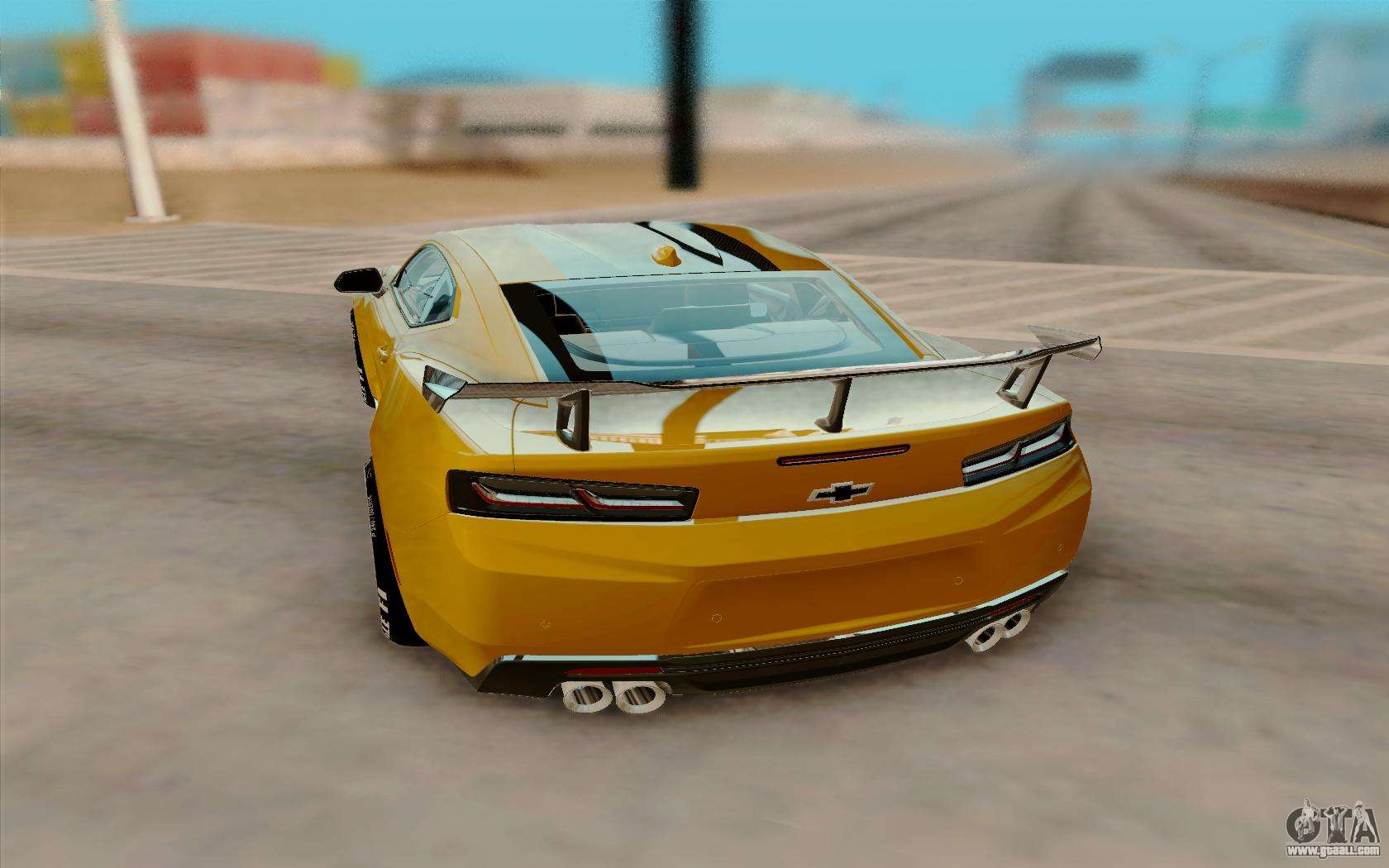 Chevrolet camaro zl1 2018 for gta san andreas back left view