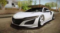 Acura NSX Stance 2017 for GTA San Andreas