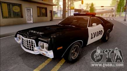 Ford Gran Torino Police LVPD 1972 v3 for GTA San Andreas