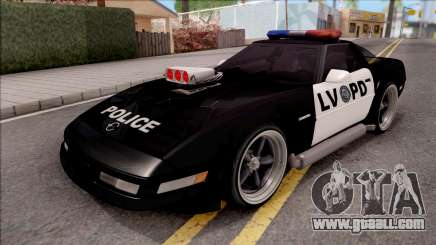 Chevrolet Corvette C4 Police LVPD 1996 v2 for GTA San Andreas