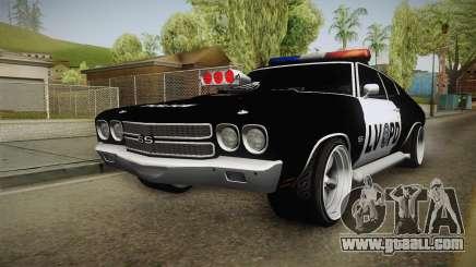 Chevrolet Chevelle SS Police LVPD 1970 v1 for GTA San Andreas