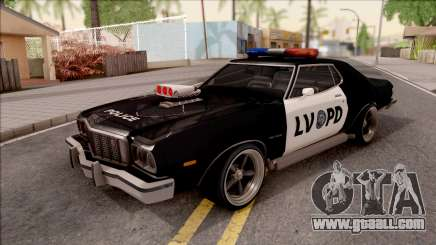Ford Gran Torino Police LVPD 1975 v3 for GTA San Andreas