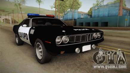 Plymouth Hemi Cuda 426 Police LVPD 1971 for GTA San Andreas