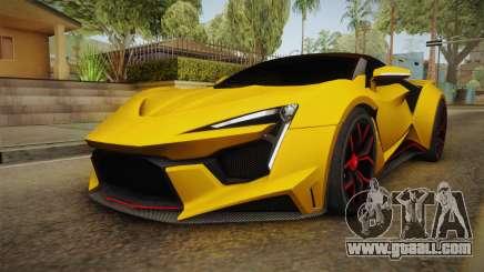 Asphalt 8 - Fenyr SuperSport W Motors for GTA San Andreas