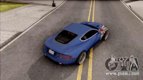 Aston Martin DB9 Drift Style - Drift Handling for GTA San Andreas back view