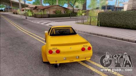 Nissan Skyline R32 Pickup Rocket Bunny for GTA San Andreas back left view