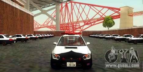 Subaru Impreza WRX STi 2004 Japanese Police for GTA San Andreas upper view