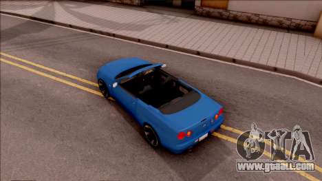Nissan Skyline R34 Cabrio for GTA San Andreas back view