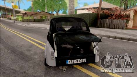 Fiat Abarth 1000TC Rally for GTA San Andreas back left view
