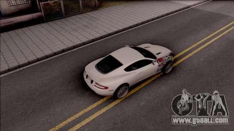 Aston Martin DB9 Drift Style - Race Handling for GTA San Andreas back view