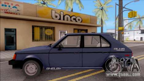 Dodge Shelby Omni GLHS 1986 for GTA San Andreas left view
