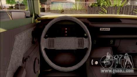 Zastava Poly 1.1 Vojni Auto for GTA San Andreas inner view