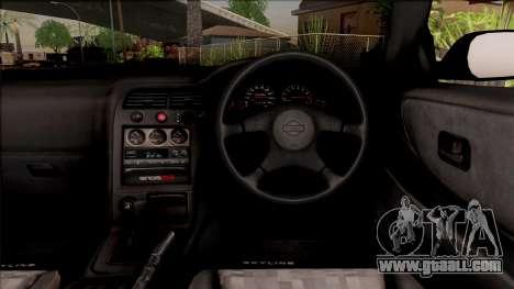 Nissan Skyline R33 Cabrio for GTA San Andreas inner view