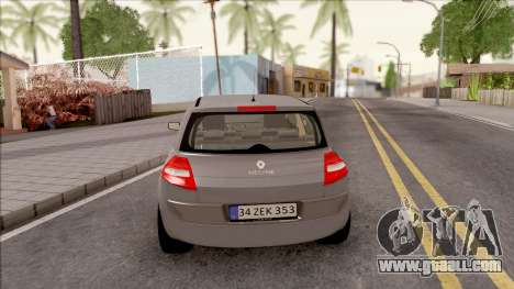 Renault Megane 2 HB Privilege for GTA San Andreas back left view