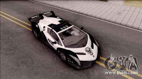 Lamborghini Veneno Police San Fierro for GTA San Andreas right view