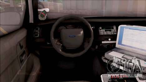 Ford Crown Victoria 2009 Iowa State Patrol for GTA San Andreas inner view