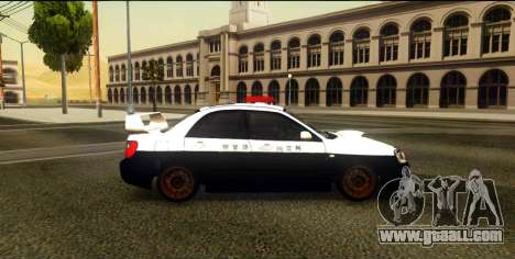 Subaru Impreza WRX STi 2004 Japanese Police for GTA San Andreas left view