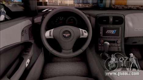 Chevrolet Corvette ZR1 Itasha JD Fate Apocrypha for GTA San Andreas inner view