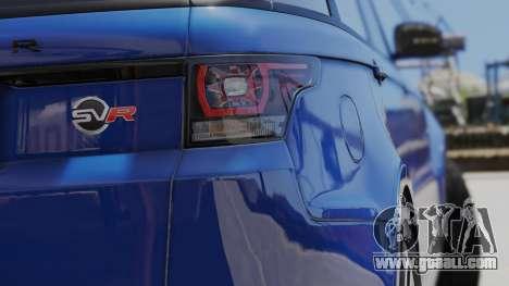 GTA 5 2014 Range Rover Sport SVR 5.0 V8 back view