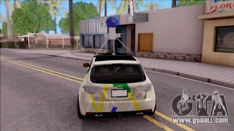 Subaru Impreza Google Street View Car for GTA San Andreas back left view