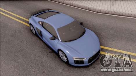 Audi R8 V10 Plus 2018 for GTA San Andreas right view