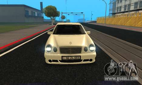 Mercedes-Benz E420 Armenian for GTA San Andreas back view