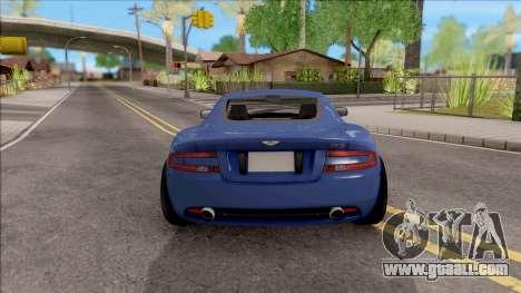Aston Martin DB9 Drift Style - Drift Handling for GTA San Andreas back left view
