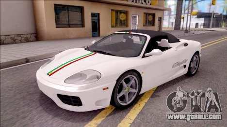 Ferrari 360 Spider US-Spec 2000 HQLM for GTA San Andreas side view