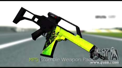 Zombie Weapon Pack for GTA San Andreas
