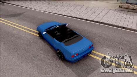 Nissan Skyline R32 Cabrio for GTA San Andreas back view