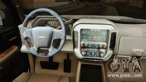 Chevrolet Cheyenne LT 2016 for GTA San Andreas inner view