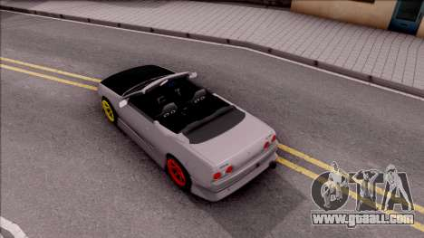 Nissan Skyline R32 Cabrio Drift Monster Energy for GTA San Andreas back view