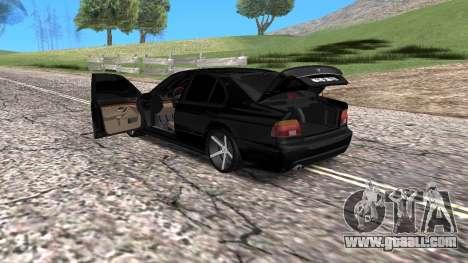 BMW E39 Armenian Vossen for GTA San Andreas back view