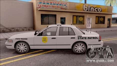 Ford Crown Victoria 2009 Iowa State Patrol for GTA San Andreas left view