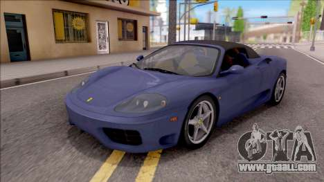Ferrari 360 Spider US-Spec 2000 HQLM for GTA San Andreas bottom view