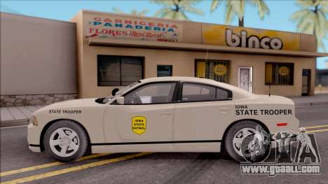 Dodge Charger Slicktop 2012 Iowa State Patrol for GTA San Andreas left view