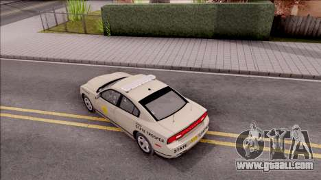Dodge Charger 2012 Iowa State Patrol for GTA San Andreas back view