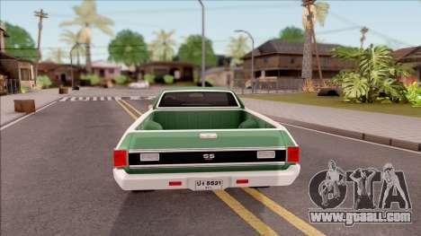 Chevrolet El Camino SS 1970 for GTA San Andreas back left view