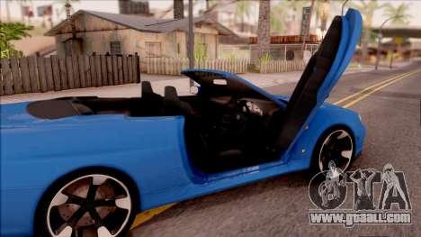 Nissan Skyline R34 Cabrio for GTA San Andreas inner view